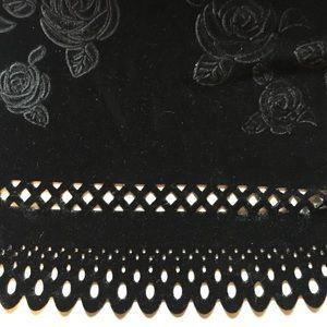 Vintage black velvet skirt